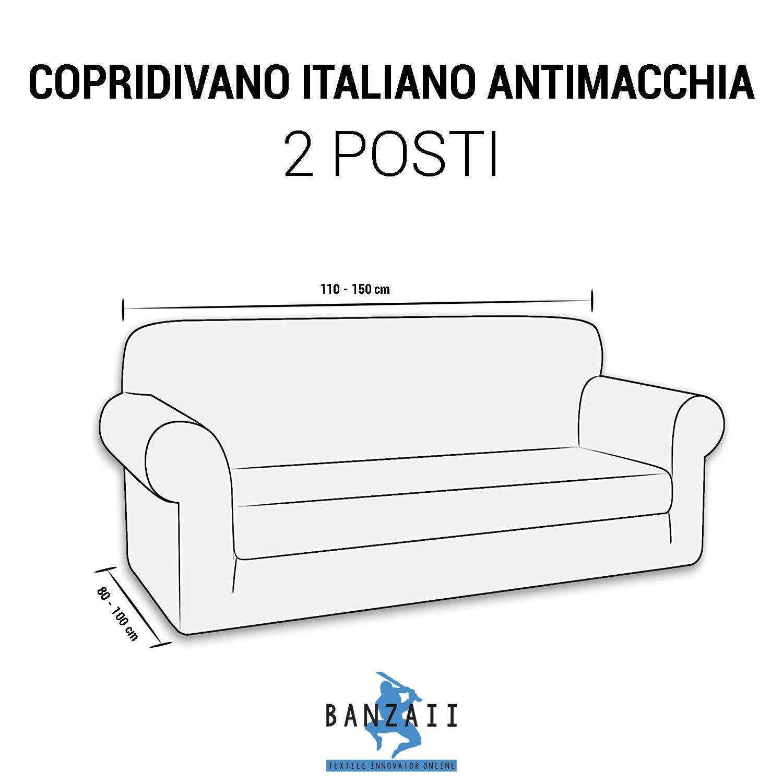Banzaii - Funda de sofá Italiana de 2 Piezas Antimanchas ...