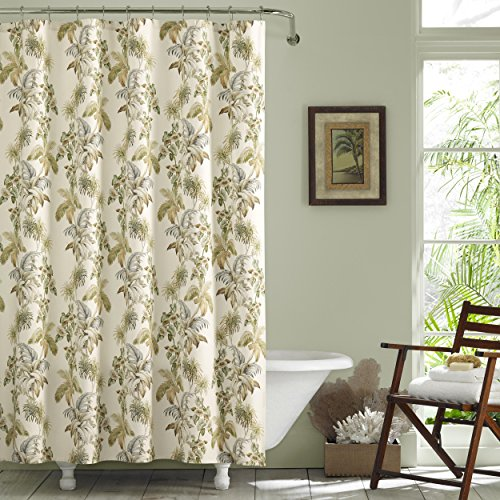 (Tommy Bahama Nador Shower Curtain 72x72 Medium Beige)