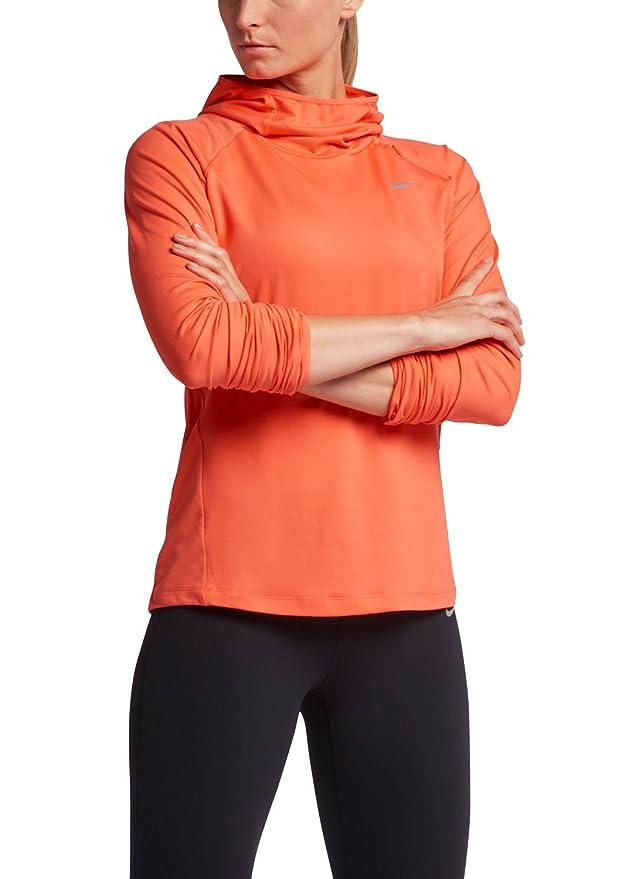 Nike Element de la Mujer Running Sudadera con Capucha, Color Negro, tamaño Mediano - Variation, Light Wild Mango/Reflective Silver: Amazon.es: Deportes y ...