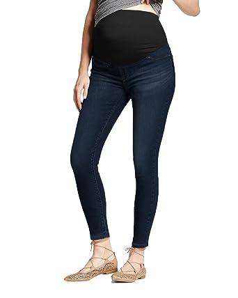 d340d8fdfc2d2 HyBrid & Company Super Comfy Stretch Women's Skinny Maternity Jeans PM4822S  Dark WASH1 Small