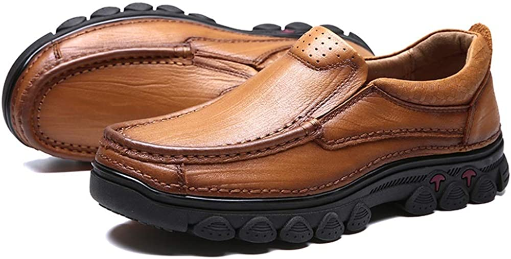 Menshoes Mens Formal Shoes Fashion Oxford Casual Comfortable Round Toe Low Top Outsole Slip-On Comfortable