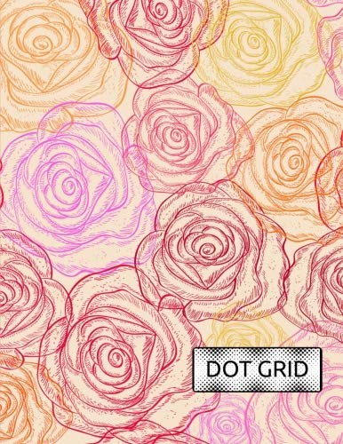 Dot Grid: Rose Stamp Notebook Journal with Light Gray Dots on Grid Paper for use as Dot Matrix, School Bullet Notetaking, Drawing, Calligraphy Dot Grid Journaling, Design and More (Dot Grid Notebooks)
