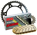 RK Racing Chain 3136-990WG Steel Rear Sprocket and GB530GXW Chain 20,000 Mile Warranty Kit