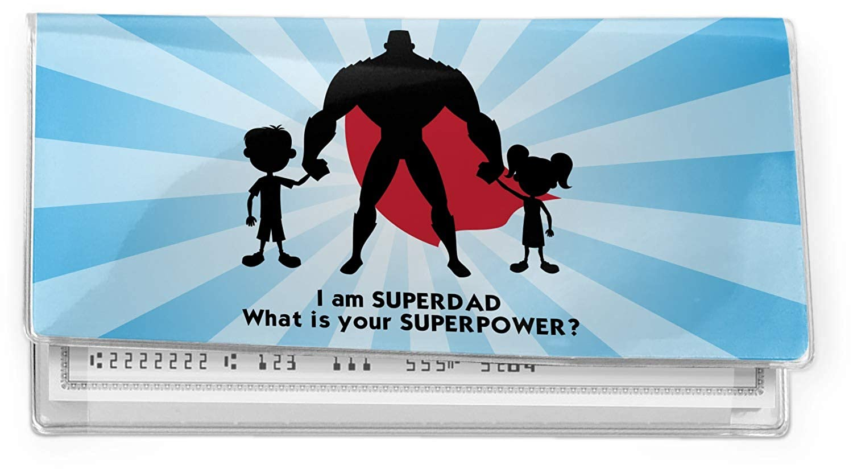 Super Dad Vinyl Checkbook Cover