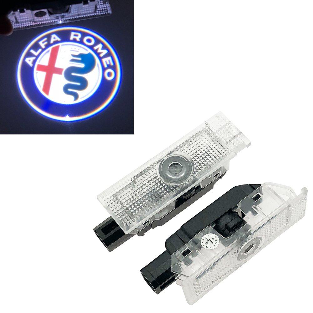 Inlink 2 Piece Car LED Projector Door Lamp Ghost Shadow Welcome Light Emblem Logo Kit Yin-chuan-ford