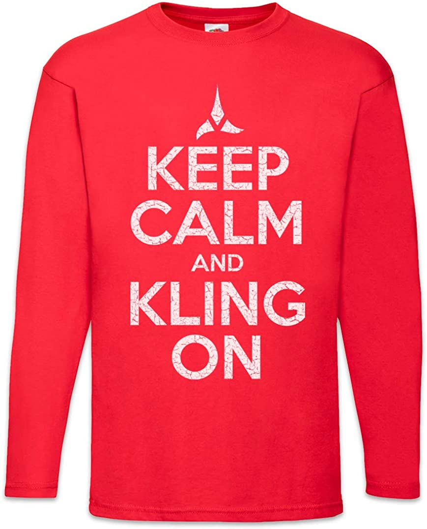 Urban Backwoods Keep Calm and Kling On Long Sleeve T-Shirt De Manga Larga: Amazon.es: Ropa y accesorios
