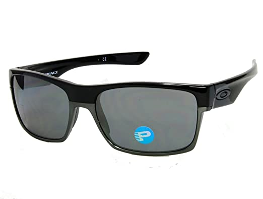 6b4a247e15 Oakley TwoFace OO9189-01 Shiny Black   Black Iridium Polarized Sunglasses
