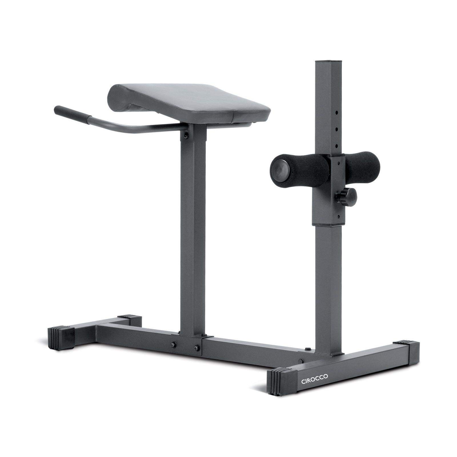 Cirocco Roman Chair Hyperextension Station Lower Back Muscle Gluteal Hamstring Abs Abdominal Core Exercise Bench | Heavy Duty Ergonomic Sturdy Helps Back Pain Posture Build Six Packs Home Gym Workout
