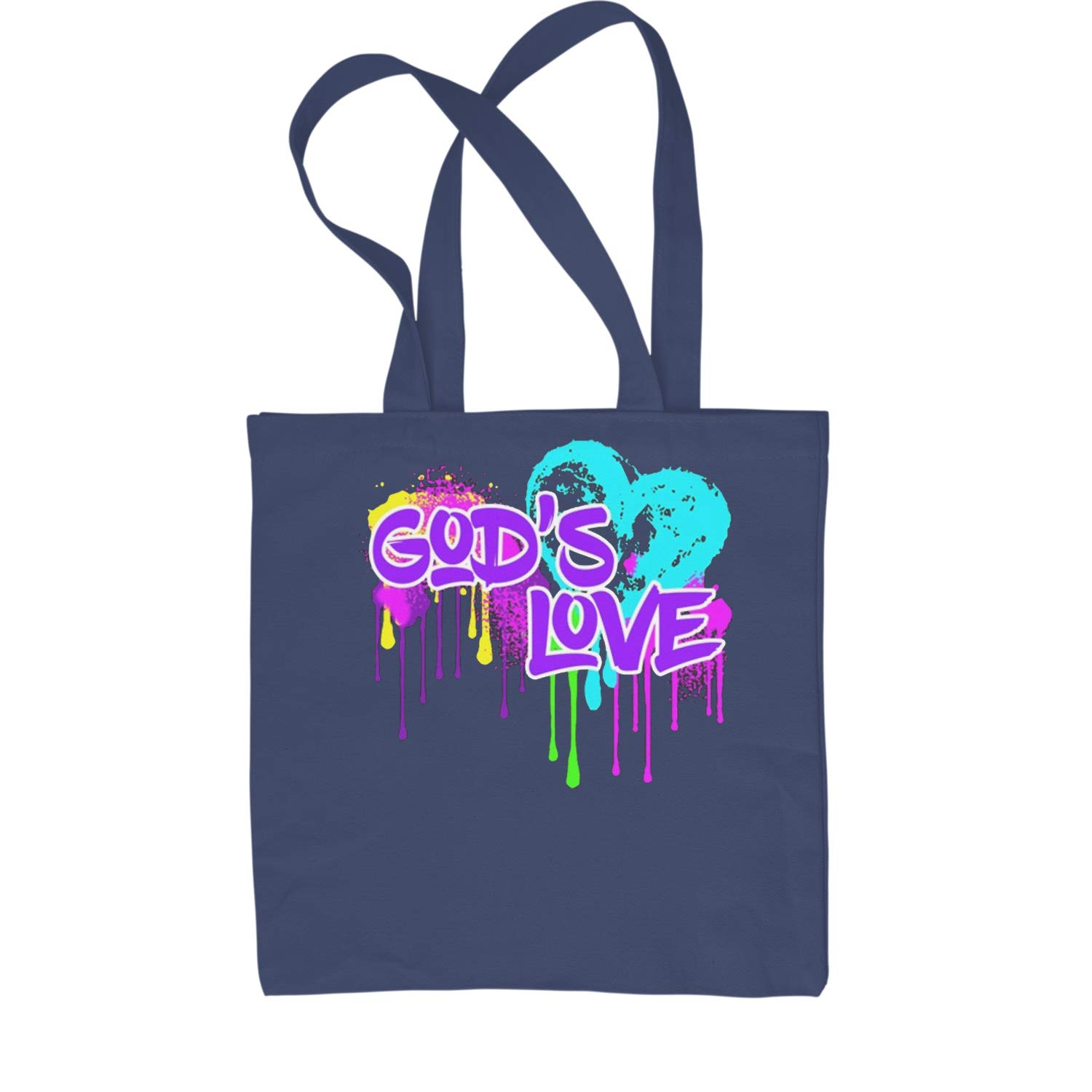 Expression Tees Gods Love Melting Neon Shopping Tote Bag