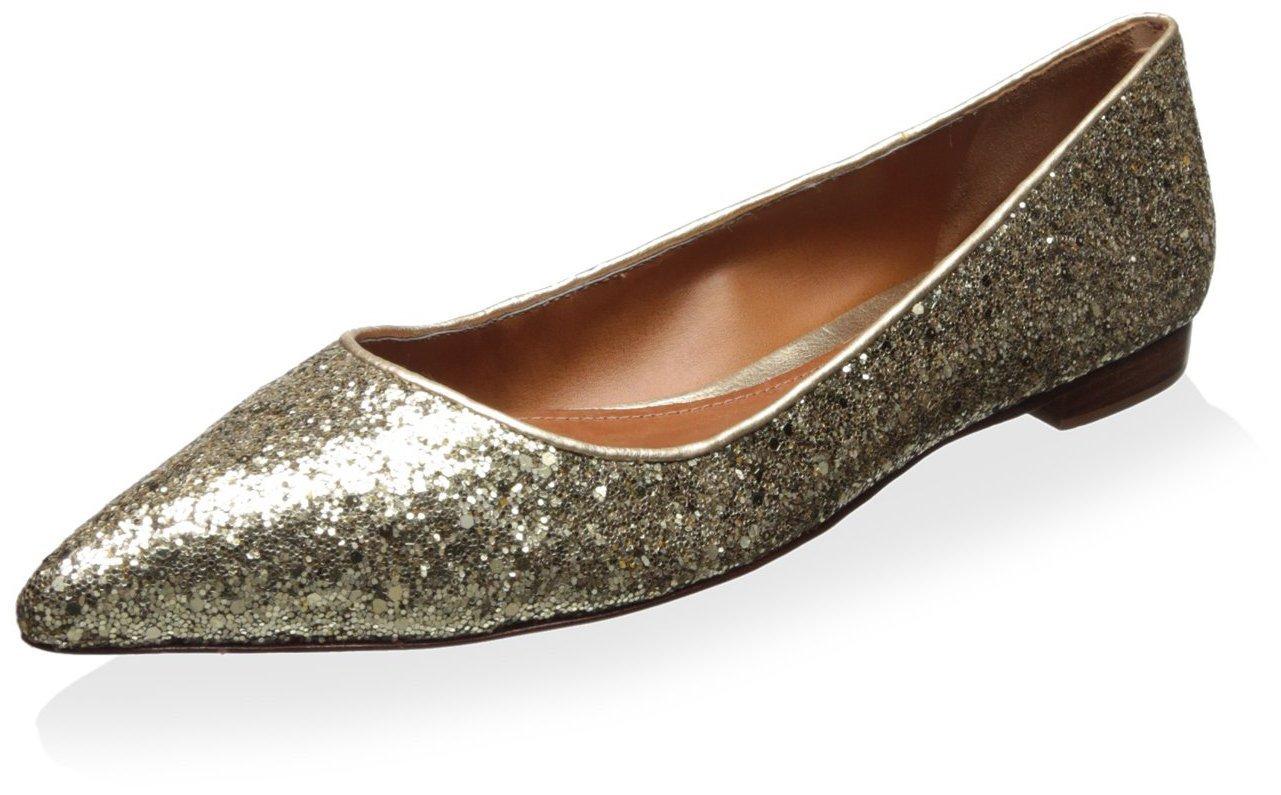 SCHUTZ Women's Point Toe Flat B01E58P1WE 8 B(M) US Gold