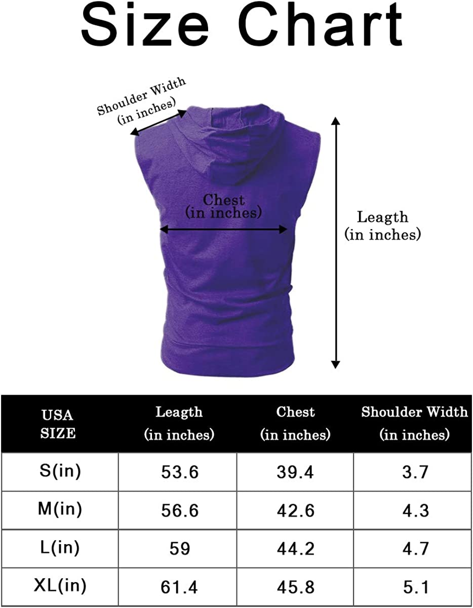 PAIZH Mens Sleeveless Workout Hoodie Zip-up Vests Gym Bodybuilding Lifting Tank Tops