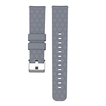 ECSEM - Correa de Silicona para Reloj de Pulsera de 20 mm, diseño ...