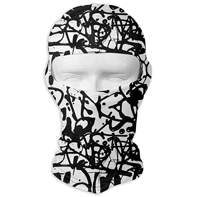 e698893a71d66 Graffiti Abstract Letters Without Meaning Men Women Balaclava Neck ...