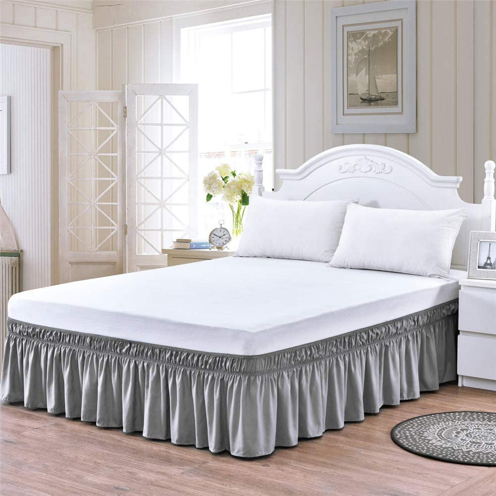 Amazon.com: Bed Skirt Queen Size King Size Bed Skirt Ruffle Bed