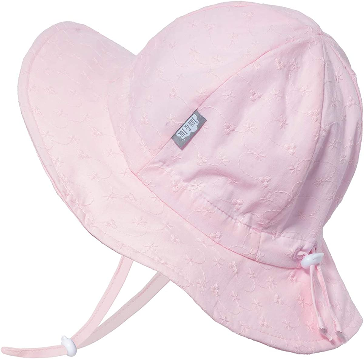 JAN /& JUL GRO-with-Me Cotton Floppy Adjustable Sun-Hat for Girls Breathable Cotton UPF 50