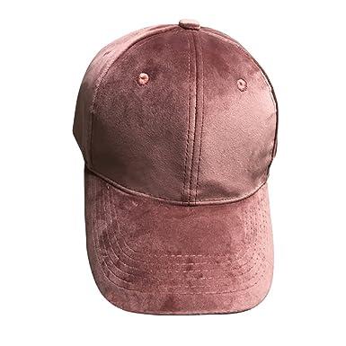 OULII Gorra de béisbol de Terciopelo Suave Unisex Sombrero de ...
