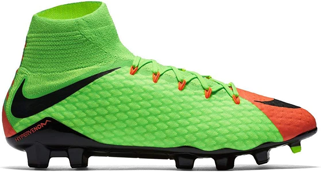 5c791ce2a024 Nike Men's Hypervenom Phatal III Dynamic Fit FG Electric Green/Black/Hyper  Orange Soccer