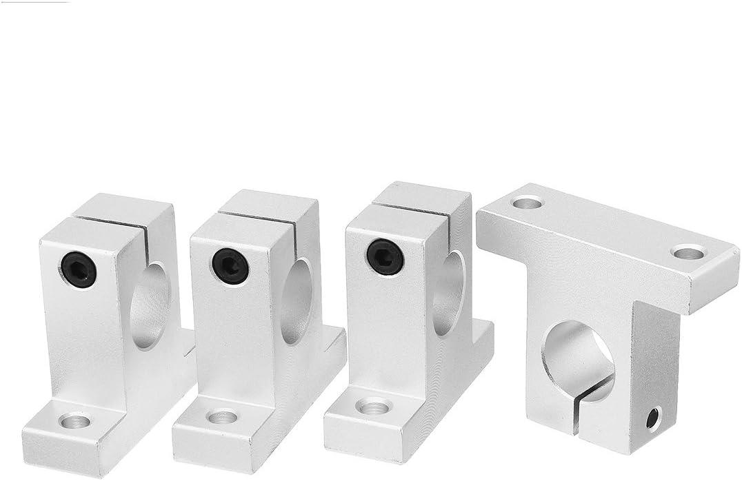 Aexit 4pcs SK20 mouvement lin/éaire serrage en aluminium Rail Guide soutien /à arbre Diam/ètre 20 mm 369R906