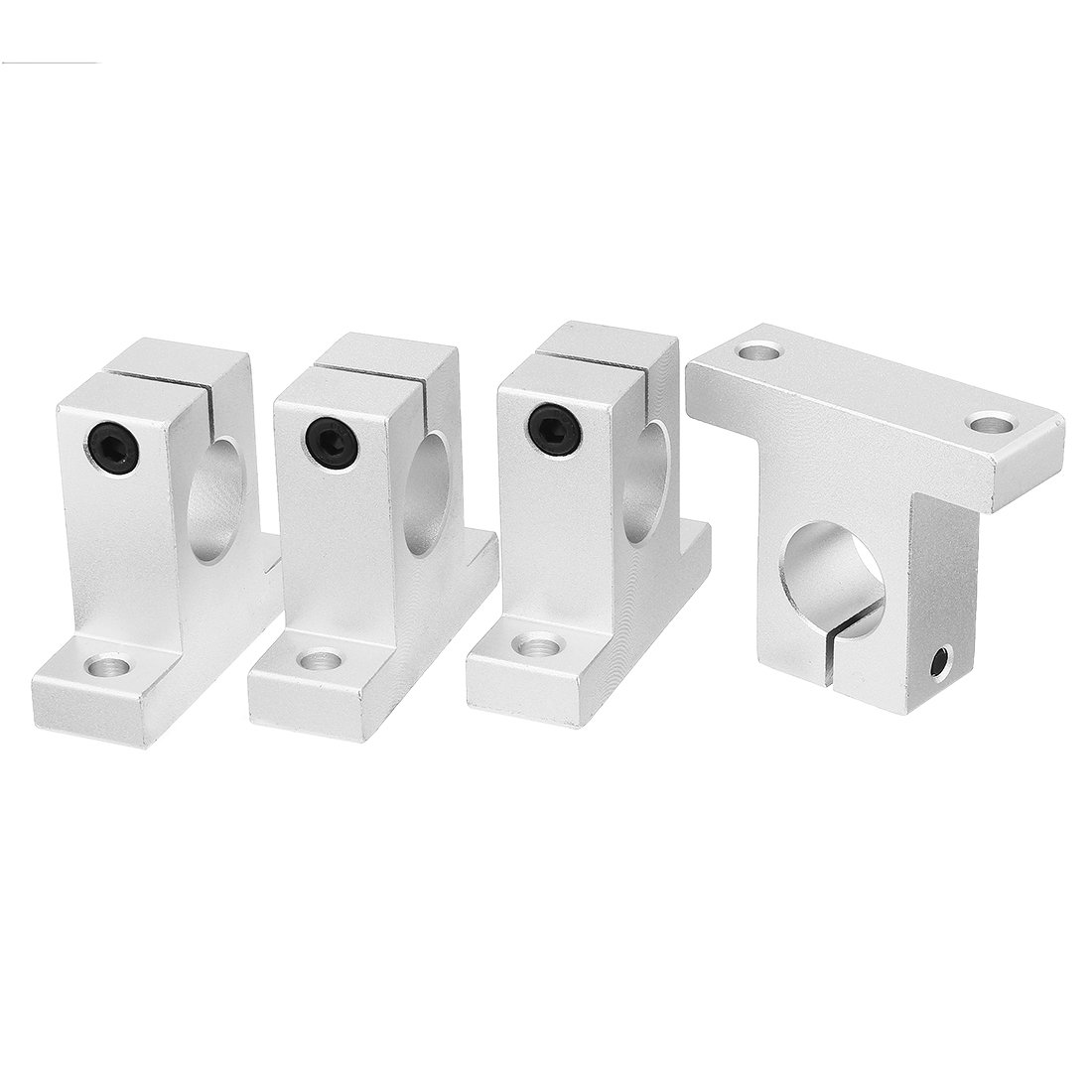 uxcell 4pcs SK12 Aluminum Linear Motion Rail Clamping Guide Support for 12mm Dia Shaft