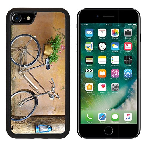 Classic Backplate - MSD Premium Apple iPhone 7 Aluminum Backplate Bumper Snap Case iPhone7 classic bicycle in front of art wall background IMAGE 29019525