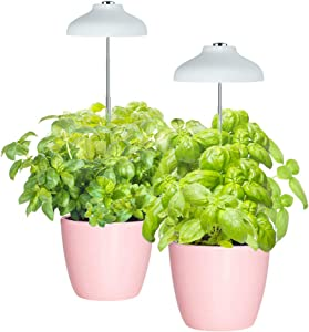 GrowLED LED Umbrella Plant Grow Light, Herb Garden, Height Adjustable, Automatic Timer, 5V Low Safe Voltage, Ideal for Plant Grow Novice Or Enthusiasts, Various Plants, DIY Decoration, Pack of 2