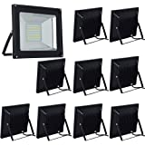 10-Pack 100W LED Floodlight,Low-energy Warm White Spotlight,IP65 Waterproof Outdoor&Indoor Security Flood Light Landscape Lamp