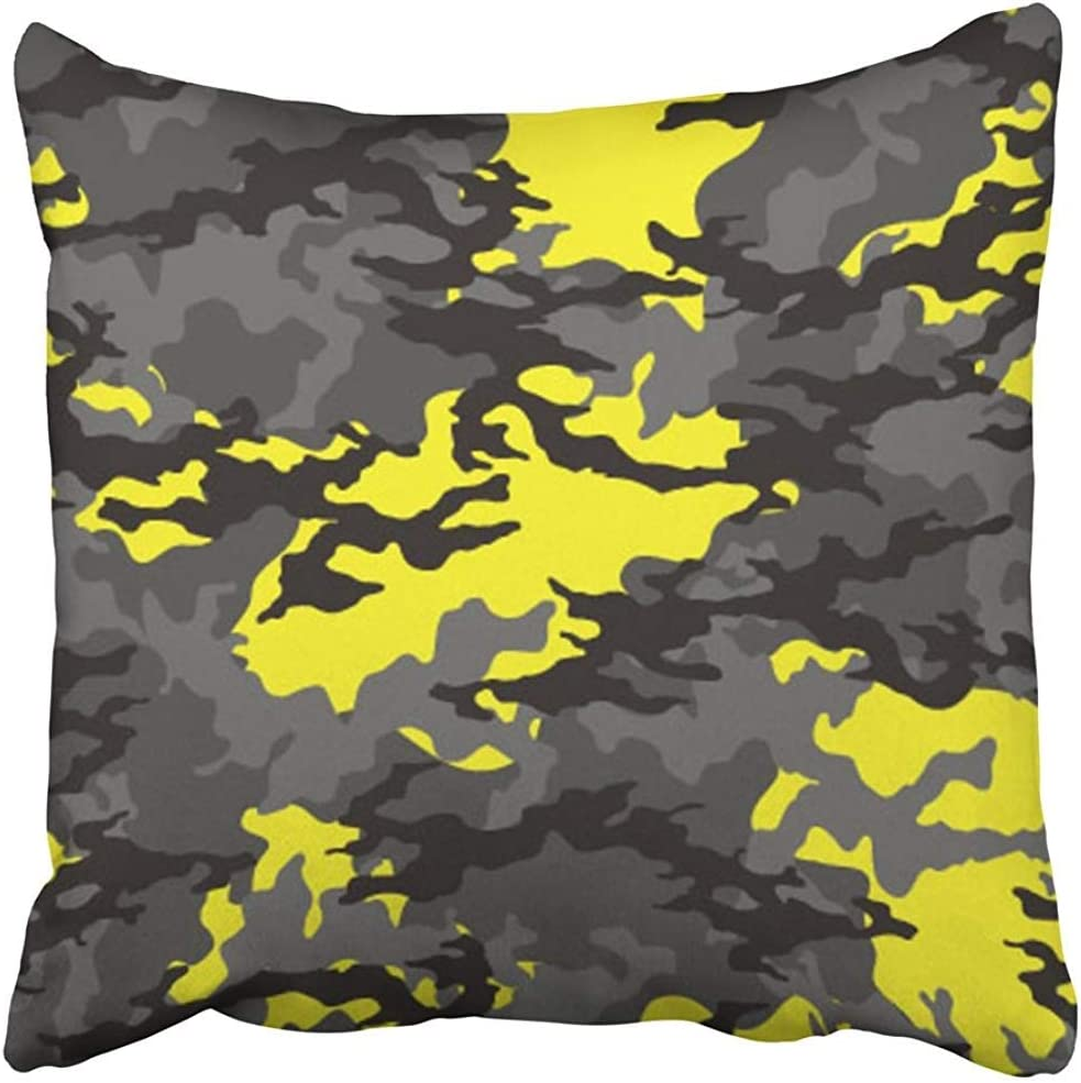 Amazon Com Throw Pillow Cover Decorative Polyester Square 18x18 Inches Green Army Fashionable Camouflage Pattern Military Dress Camo Combat Commando Defence Pillowcase Print Two Sides Sofa Home Home Kitchen