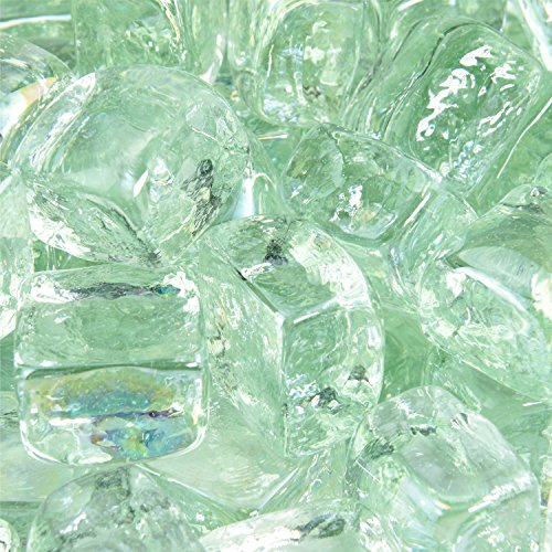 Arctic Ice - Fire Glass Cubes for Indoor and Outdoor Fire Pits or Fireplaces | 10 Pounds | 1 Inch