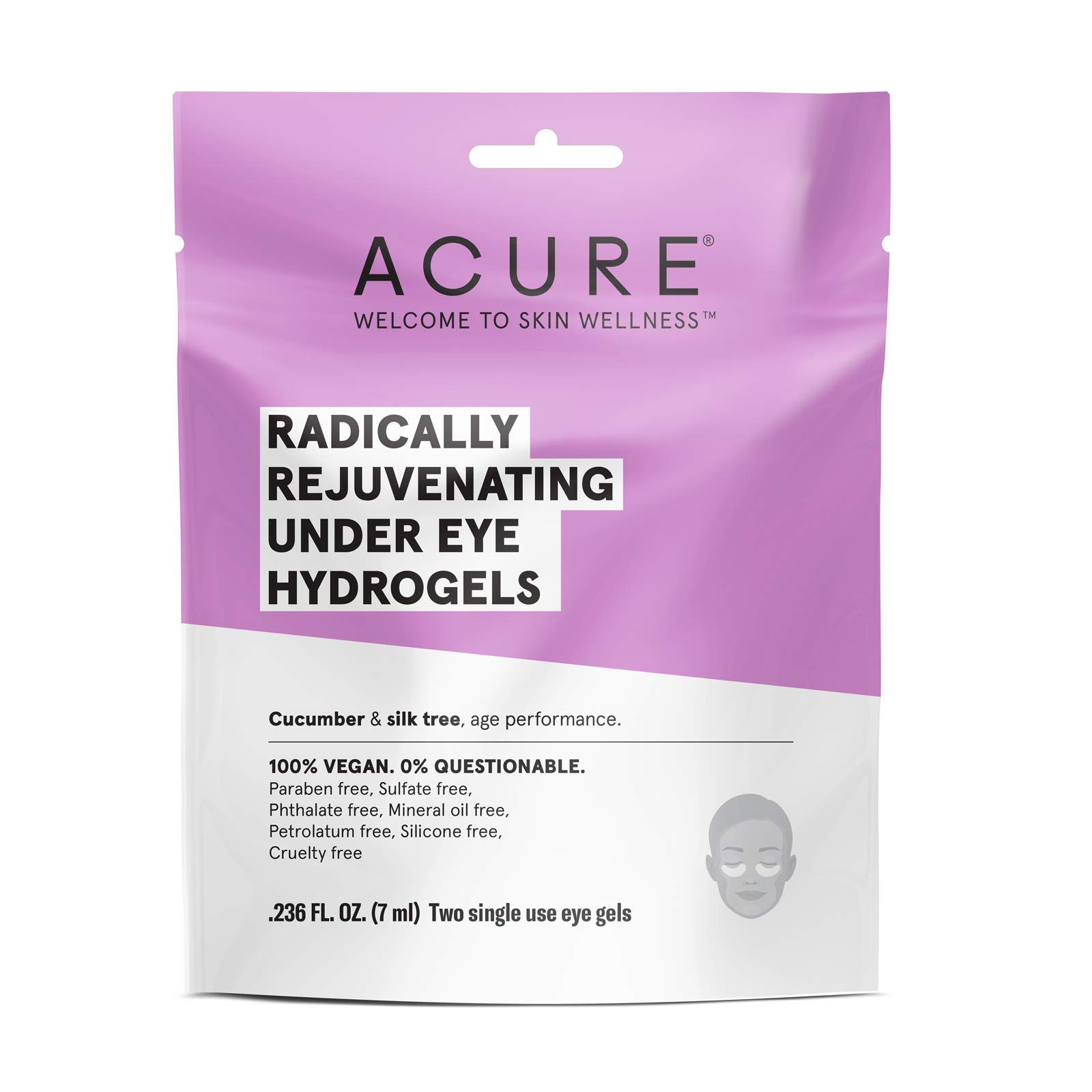 ACURE Radically Rejuvenating Under Eye Hydrogel Mask, 5 Count (Packaging May Vary)
