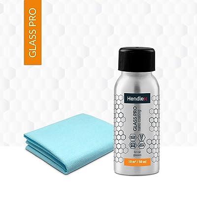 Hendlex Glass Pro Car Windshield Water Repellent | Long Lasting Invisible Nano Treatment Hydrophobic Ceramic Coating for Glass Window Rain Protection Auto Sealant 1.69 oz: Automotive