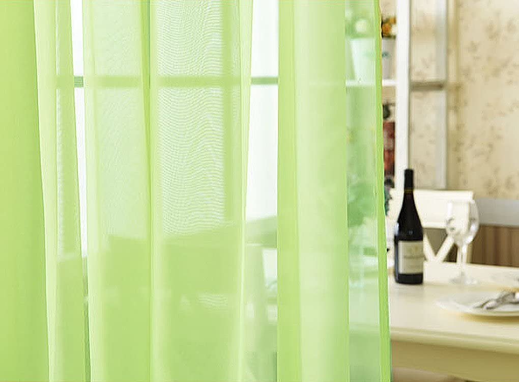 1 Panel 39Wide x 21 Long WPKIRA White Bird Embroidered Voile Sheer Valance Kitchen Window Treatment Voile Valances Rod Pocket Embroidery Sheer Tier Curtains for Small Window