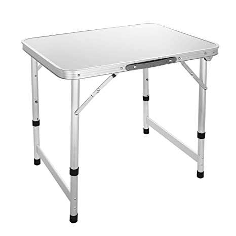Ordinaire Aluminum Small Folding Camping Table, Lightweight Picnic Outdoor Indoor  Table, Carrying Handle Included