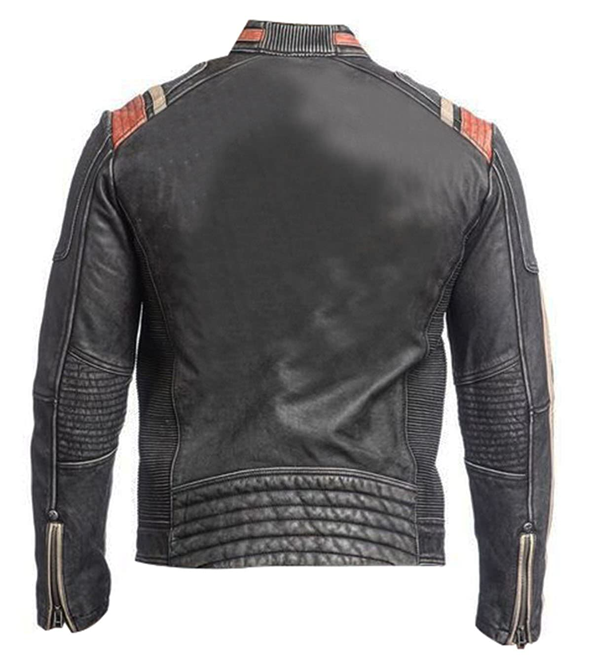 120cc55a48b Spazeup Cafe Racer Jacket Vintage Motorcycle Retro Moto Distressed Leather  Jacket at Amazon Men s Clothing store