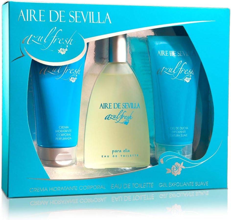 Estuche Aire De Sevilla Azul Fresh 3 Piezas: Amazon.es: Belleza