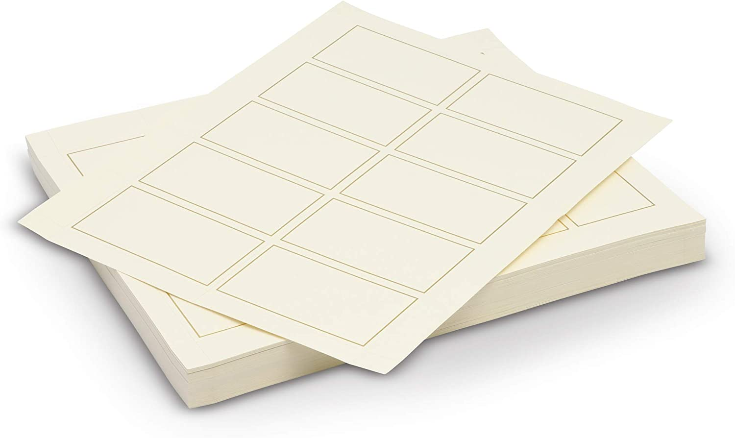 100 Pack Foil Perforated Business Card Ivory Paper