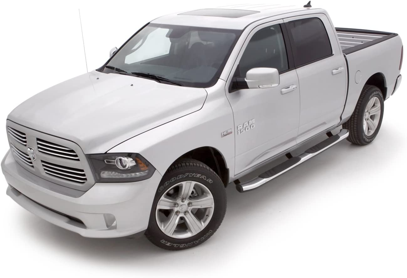 2010-2018 Ram 2500//3500 Crew Cab LUND 22858783 Chrome 5 Oval Bent Nerf Bars for 2009-2015.5 Dodge Ram 1500