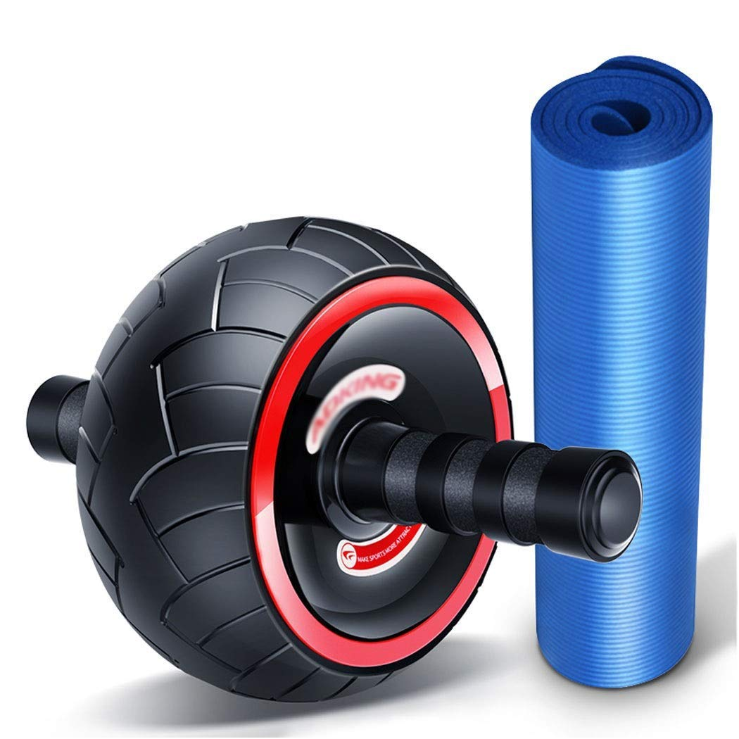 A C-Xka Abdominal Exercises Workout Roller Wheel with Knee Pad, Abdominal Workout Equipment Ab Wheel Ab Roller for Home Gym