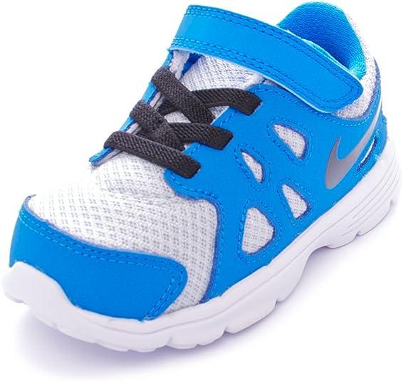 germen traicionar Fecha roja  Nike Kids Revolution 2 Infant Trainers White/Blue UK C7 (23.5):  Amazon.co.uk: Shoes & Bags