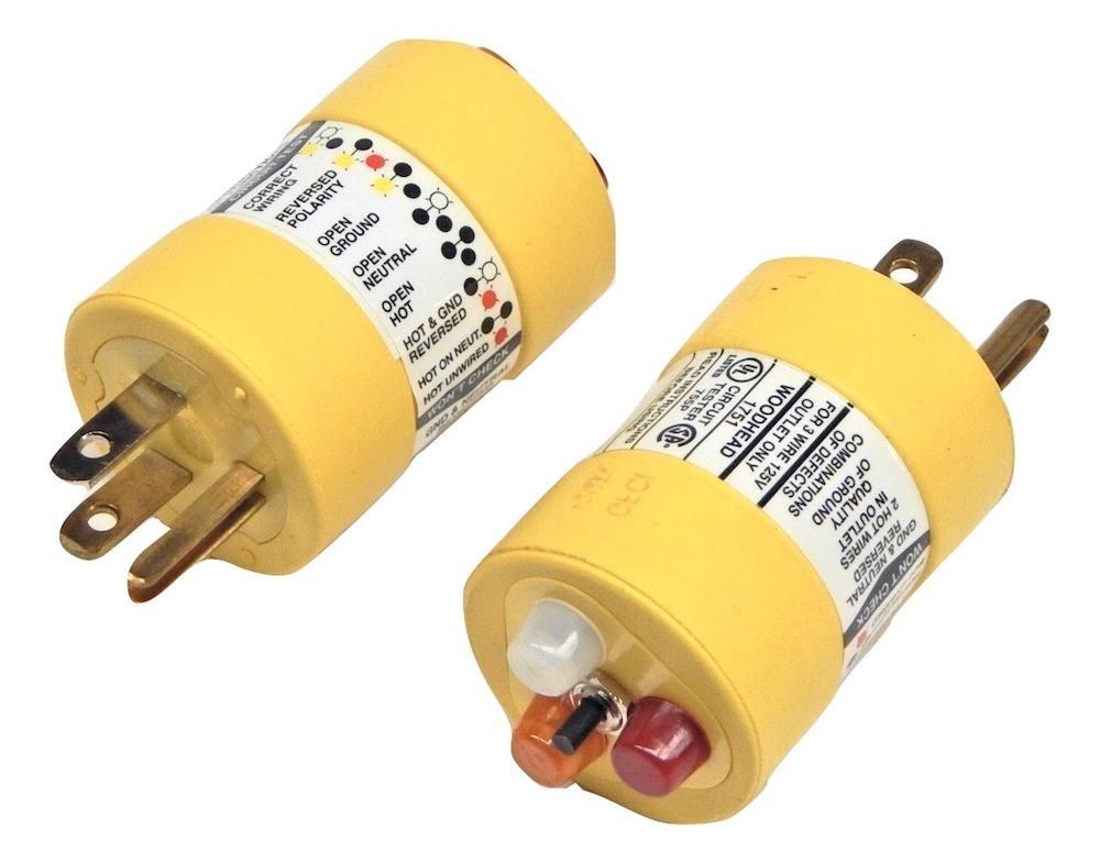 woodhead 1751 super safeway rubber 115v three wire circuit tester rh amazon com