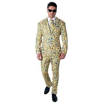 Rubieu0027s Official Menu0027s Minion Icon Suit Crazy Adult Costume ...  sc 1 st  Amazon UK & Rubieu0027s Official Menu0027s Minion Icon Suit Crazy Adult Costume - X ...