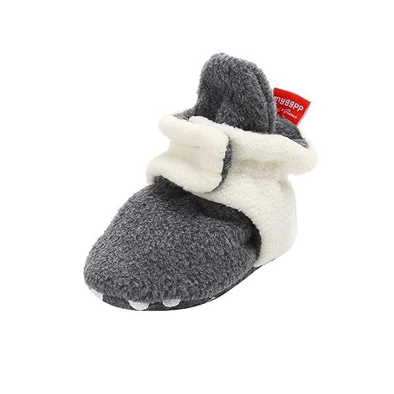 Yahoo Zapatos para niños bebés recién Nacidos bebés Botines de Lana acogedores Antideslizantes en la Parte