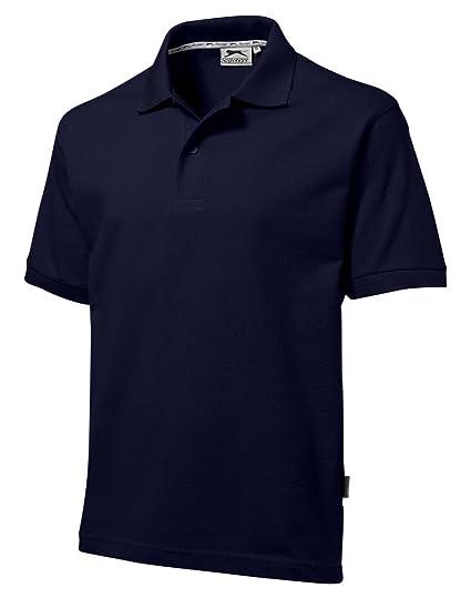 pretty nice 2e2f2 7fd2c Slazenger Polo Hemd Poloshirt aus 100 % Baumwolle für Freizeit, Tennis oder  Golf in 23 Farben und den Grössen S, M, L, XL und XXL Navy,S ( Small )