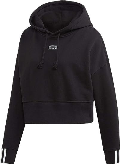 adidas Originals Hoody Damen Vocal Crop Hood EJ8537 Schwarz