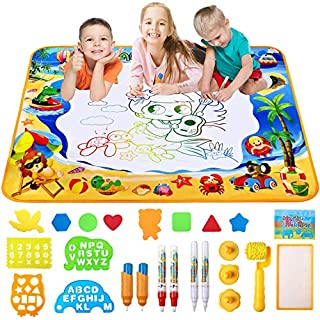 Doodle Mat, Large Water Drawing Mat Aqua Magic Doodle Kids Toy Gifts for Boys Girls Painting Writing Pad Educational Learning Toys for Toddler