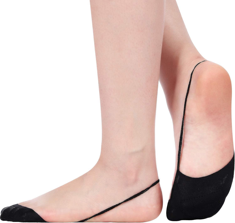 5 Pairs Summer Women Girls Boat Socks Two Tone Semi Sheer Thin Low Cut Fashion