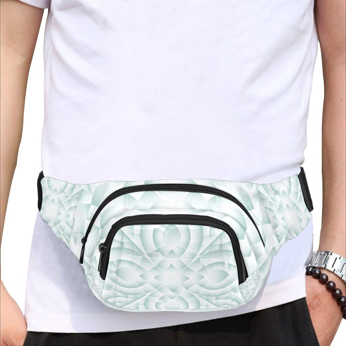 Floral Of Six Diamond Petals Fenny Packs Waist Bags Adjustable Belt Waterproof Nylon Travel Running Sport Vacation Party For Men Women Boys Girls Kids