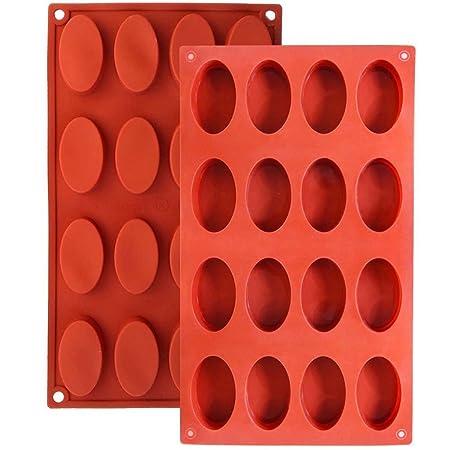 Baker Boutique 16-cavity Oval moldes de silicona (antiadherente ...