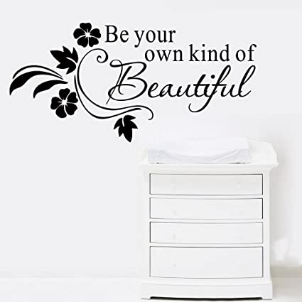 Amazoncom Wall Sticker Quote Diy Be Your Own Kind Of