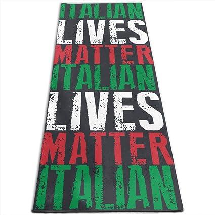 Amazon.com : JNSHO-G Yoga Mat, Italian Lives Matter Gym Mat ...
