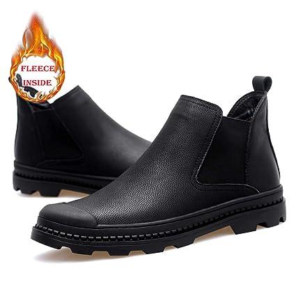 Shufang-shoes Botas Chelsea de Moda para Hombre Casual Classic High Top Hard Style Warm